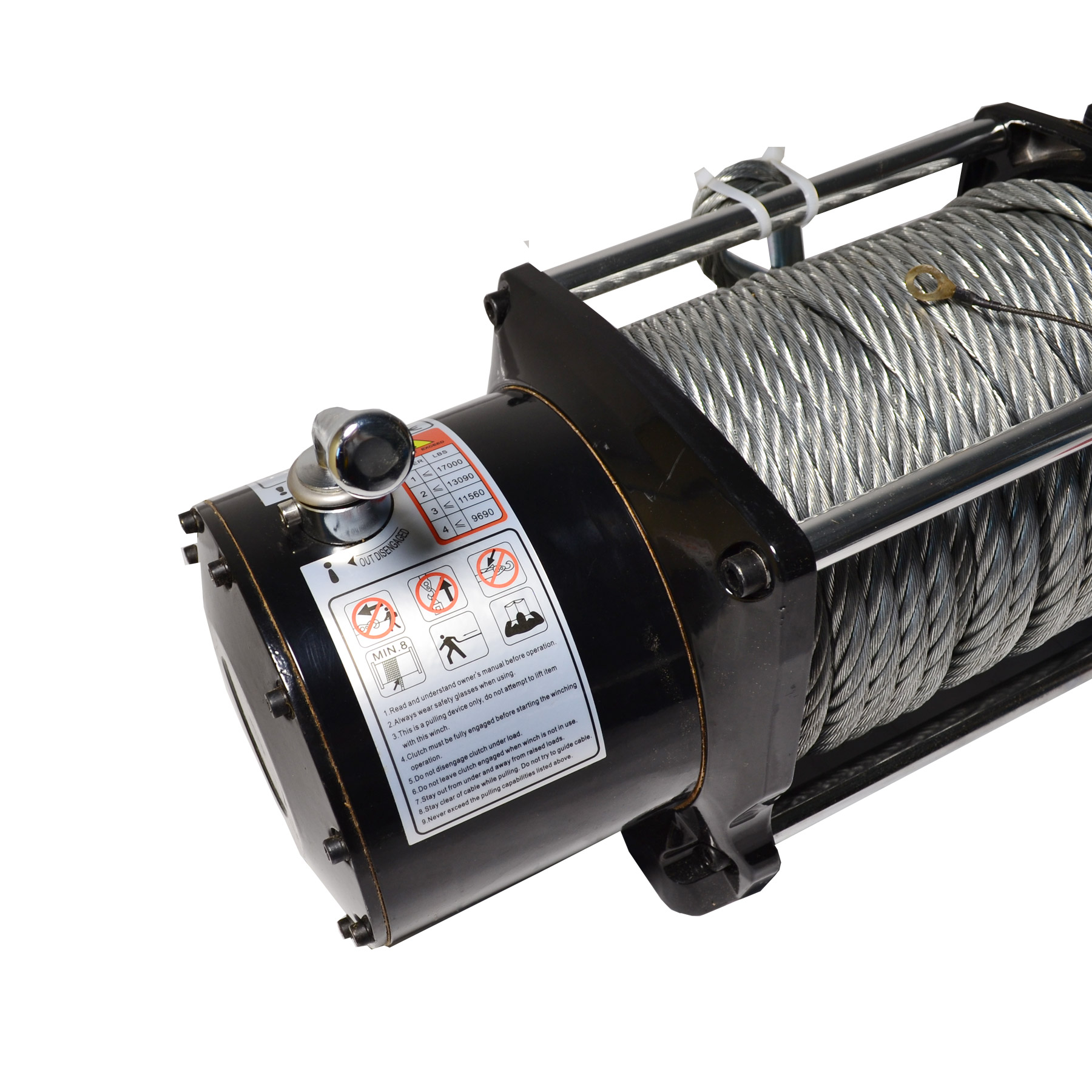 12V Electric 17000lb Recovery Waterproof Winch Kit w/Steel Cable ...