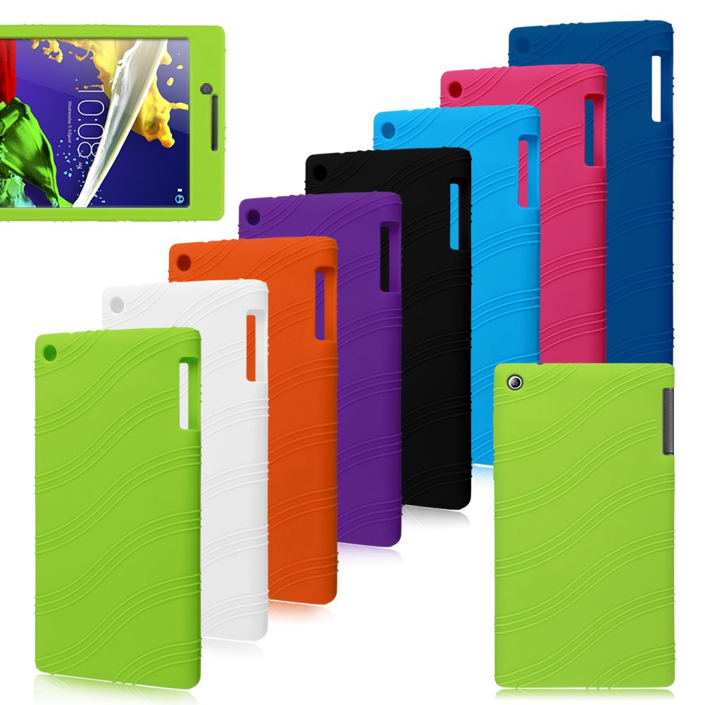 new style b0263 52eea Details about Silicone Rubber Case Cover Stand Protector For Lenovo Tablet  P8 / Tab 3 / Tab 2