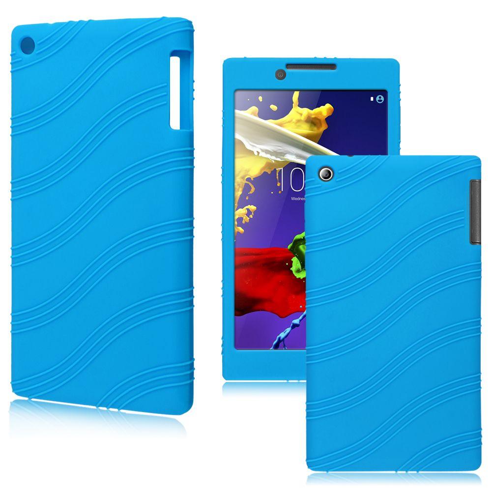 Flex Silicone Gel Soft Pouch Case Cover For 7 Lenovo Ideatab A7 30 Idea Tab A3500 Blue