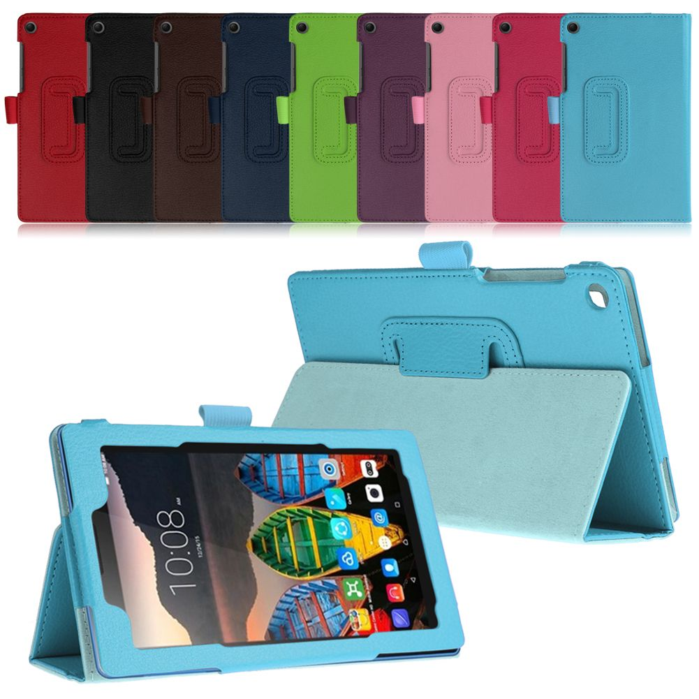 low priced 48f8b f625f Details about Flip Leather Case Folding Stand Cover Skin For Lenovo Tab3  Essential 7 TB3-710F