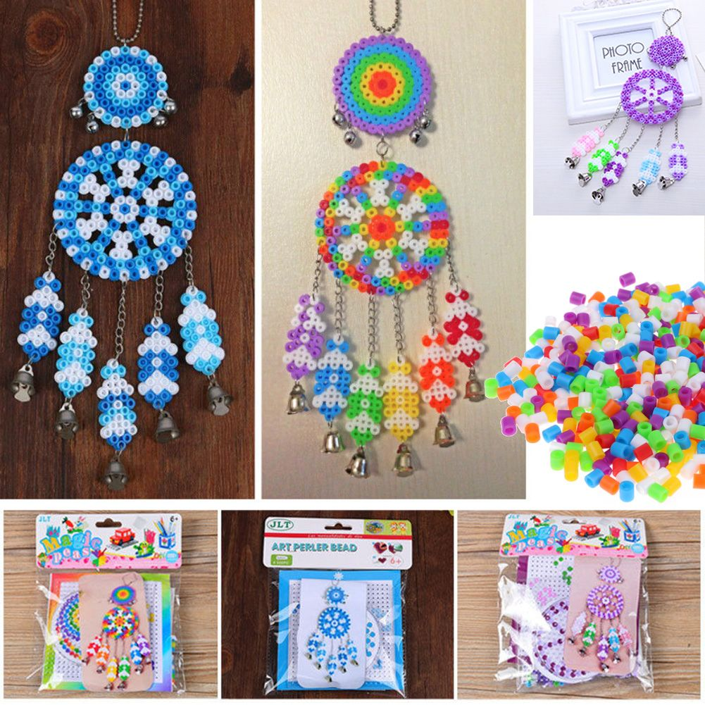 Colorful Dream Catcher Windbell Diy Kit Perler Fuse Beads