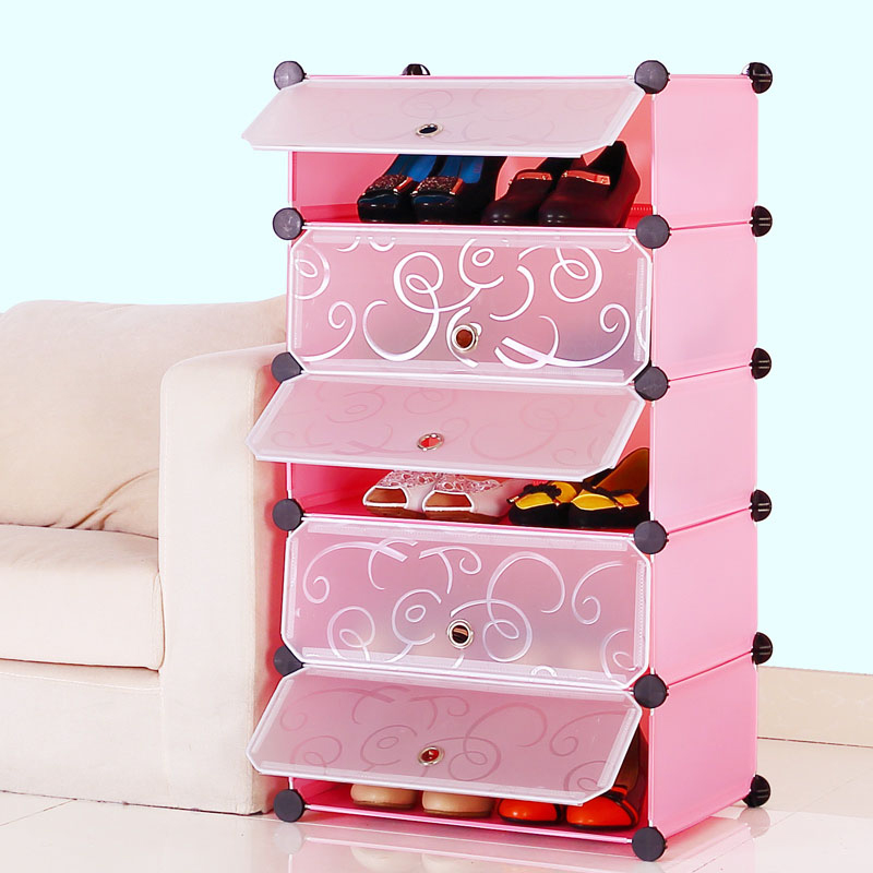 schuhregal schuhschrank schrank regalsystem steckregal standregal kunststoff diy ebay. Black Bedroom Furniture Sets. Home Design Ideas