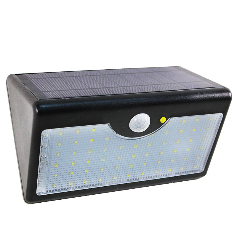 60leds led solarlampe licht dachrinnen au en garten wandlampe bewegungsmelder ebay. Black Bedroom Furniture Sets. Home Design Ideas