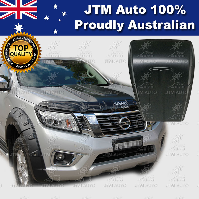 Black Bonnet Scoop Hood Raptor to suit Nissan Navara NP300 D23 2015-2018