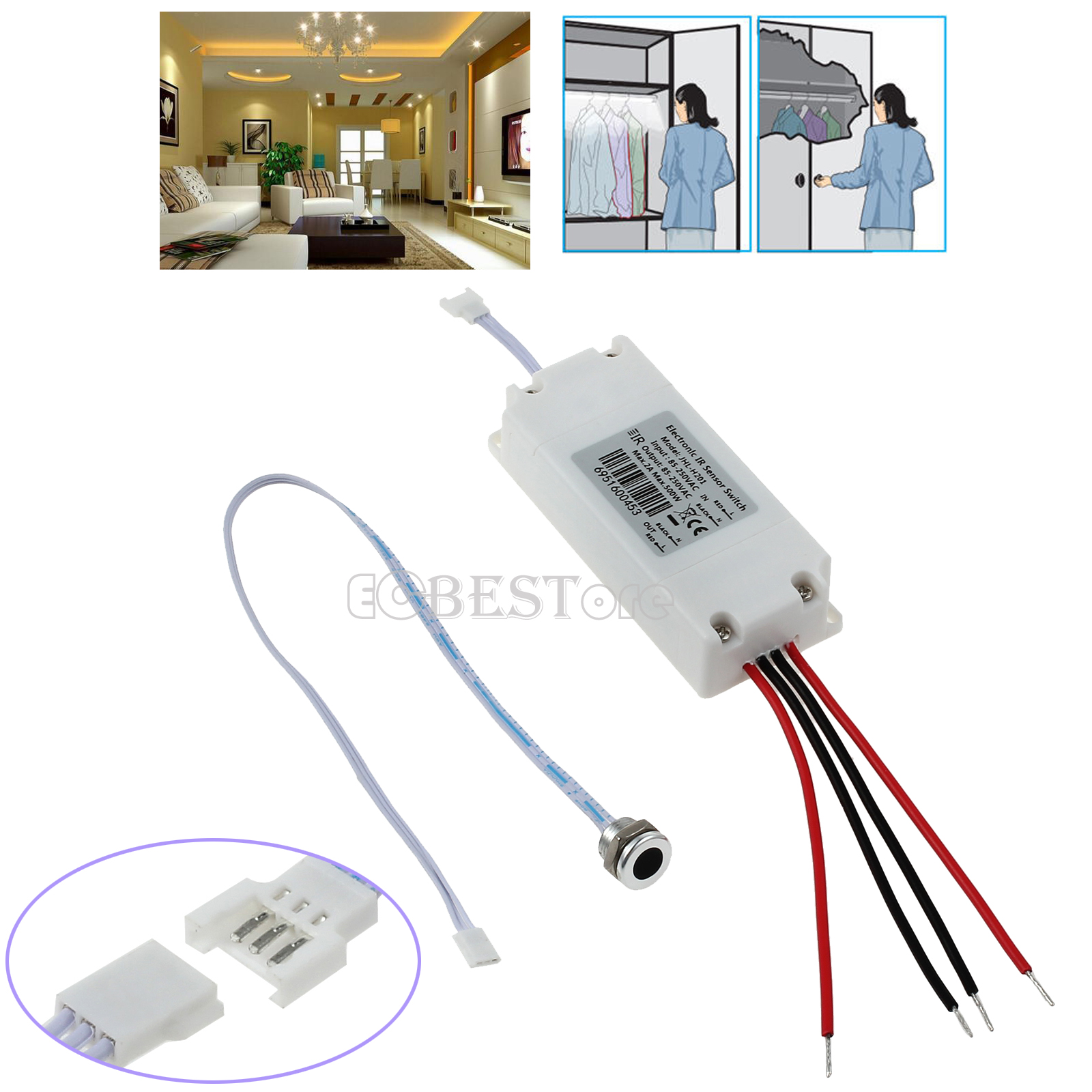 Ir Motion Sensor Switch Touchless On Off Electronic