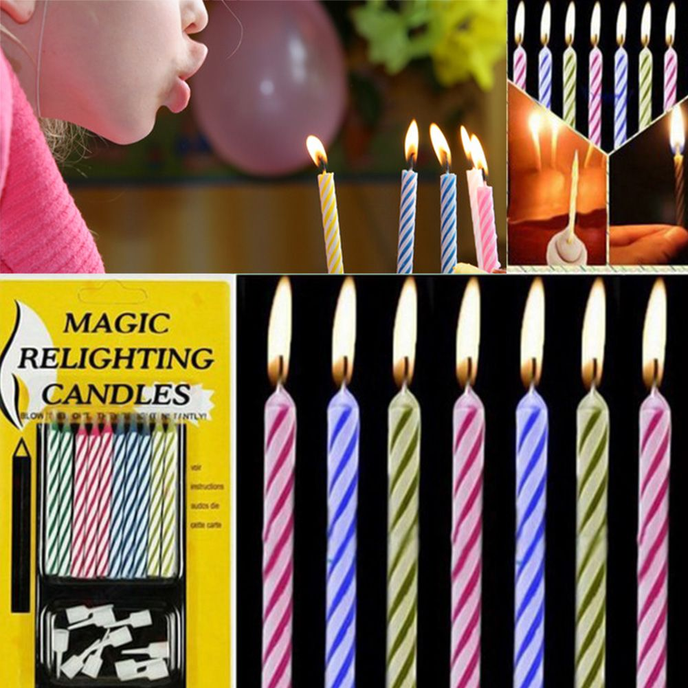 10 pcs magic trick funny lighting kerzen geburtstag x mas party joke geschenke ebay. Black Bedroom Furniture Sets. Home Design Ideas