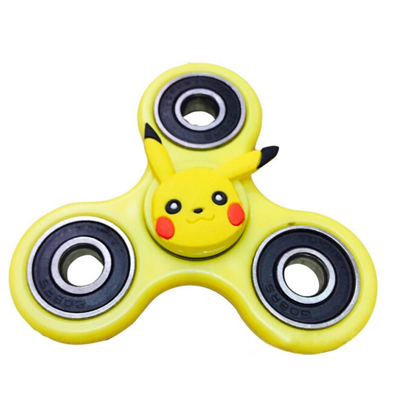 Pokemon Go Pikachu Hand Spinner Tri Fid Steel Ball Desk Toy Edc
