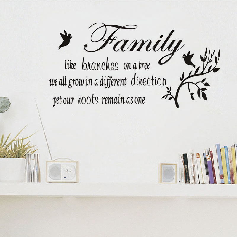 Family Like Branches Quote Wall Sticker Tree Plants Wall