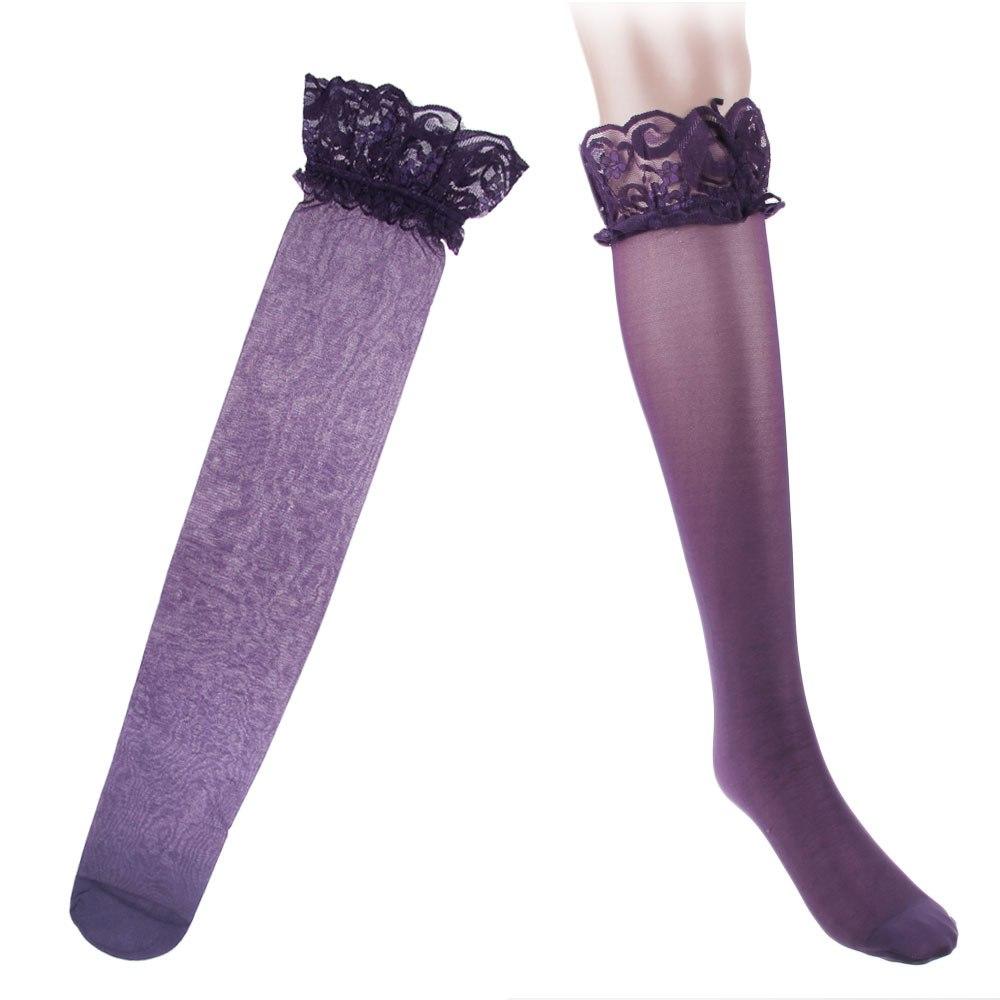 Sexy Damen Lady Halterlose Netz Spitze Strümpfe Stockings