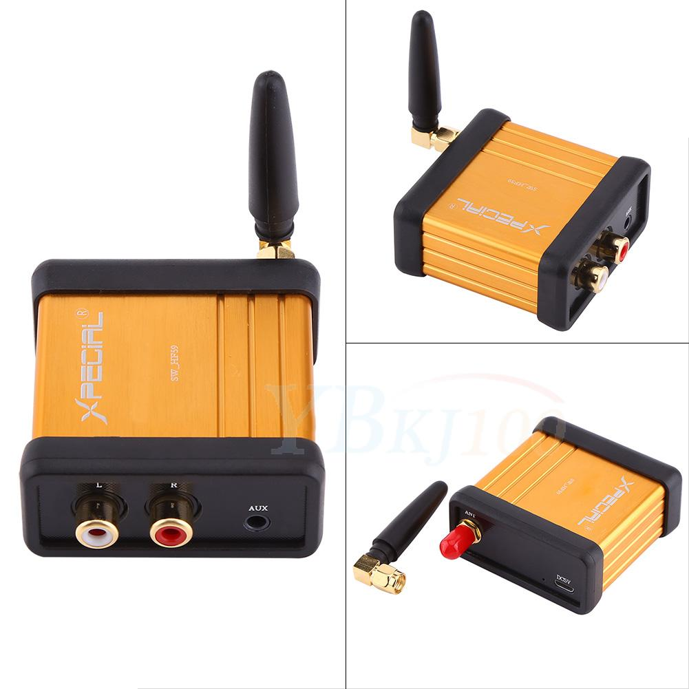 mini hi fi bluetooth 4 2 audio receiver stereo adapter rca. Black Bedroom Furniture Sets. Home Design Ideas
