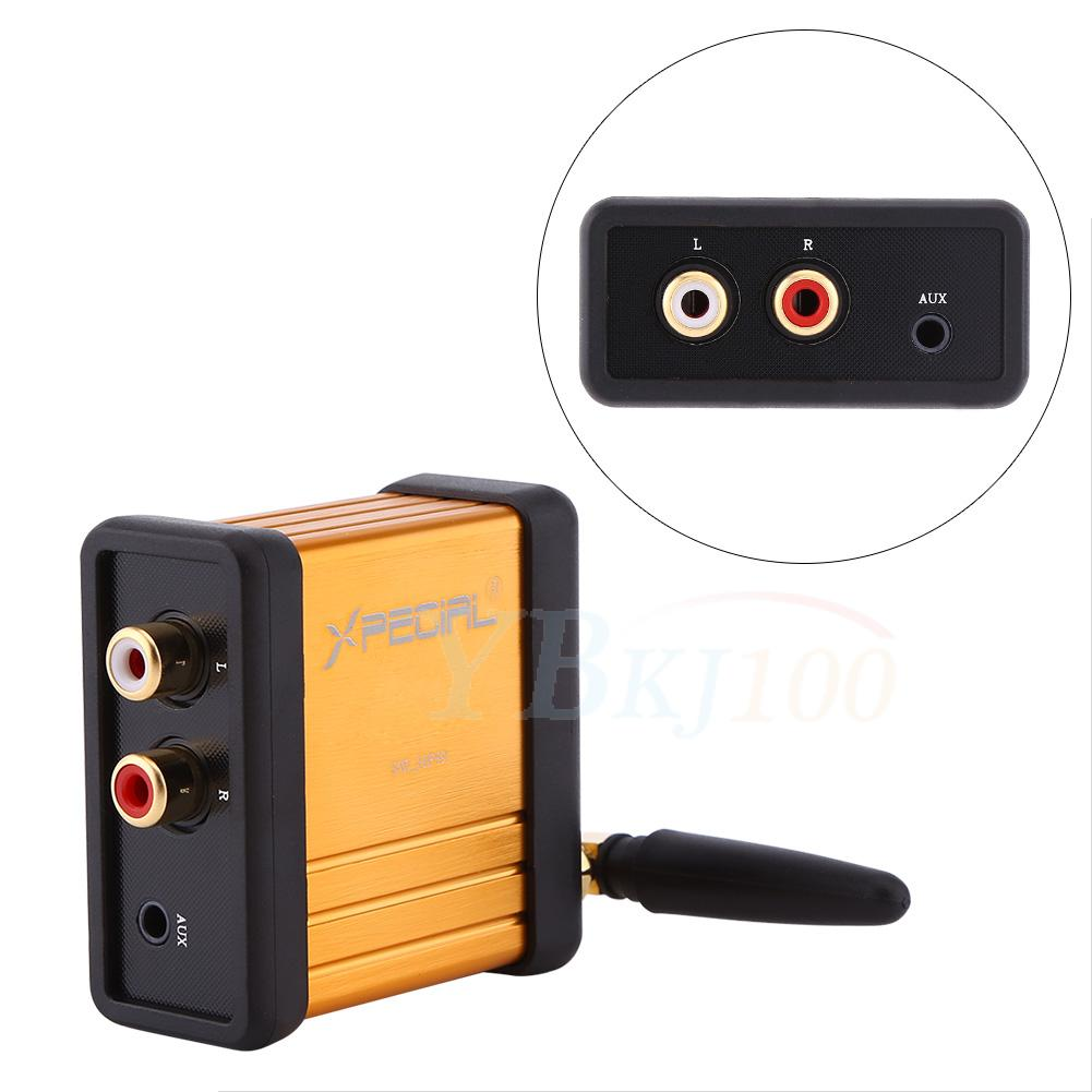 hf59 bluetooth v4 2 csr64215 audio receiver box aptx rca. Black Bedroom Furniture Sets. Home Design Ideas