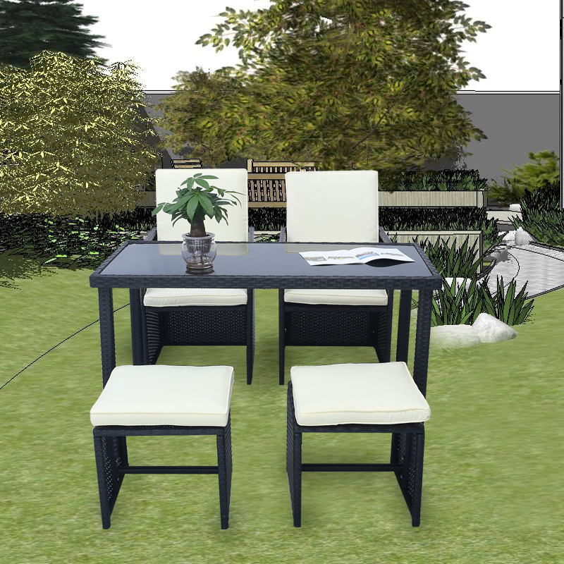 poly rattan gartenset lounge essgruppe sitzgarnitur garten m bel gartengarnitur ebay. Black Bedroom Furniture Sets. Home Design Ideas