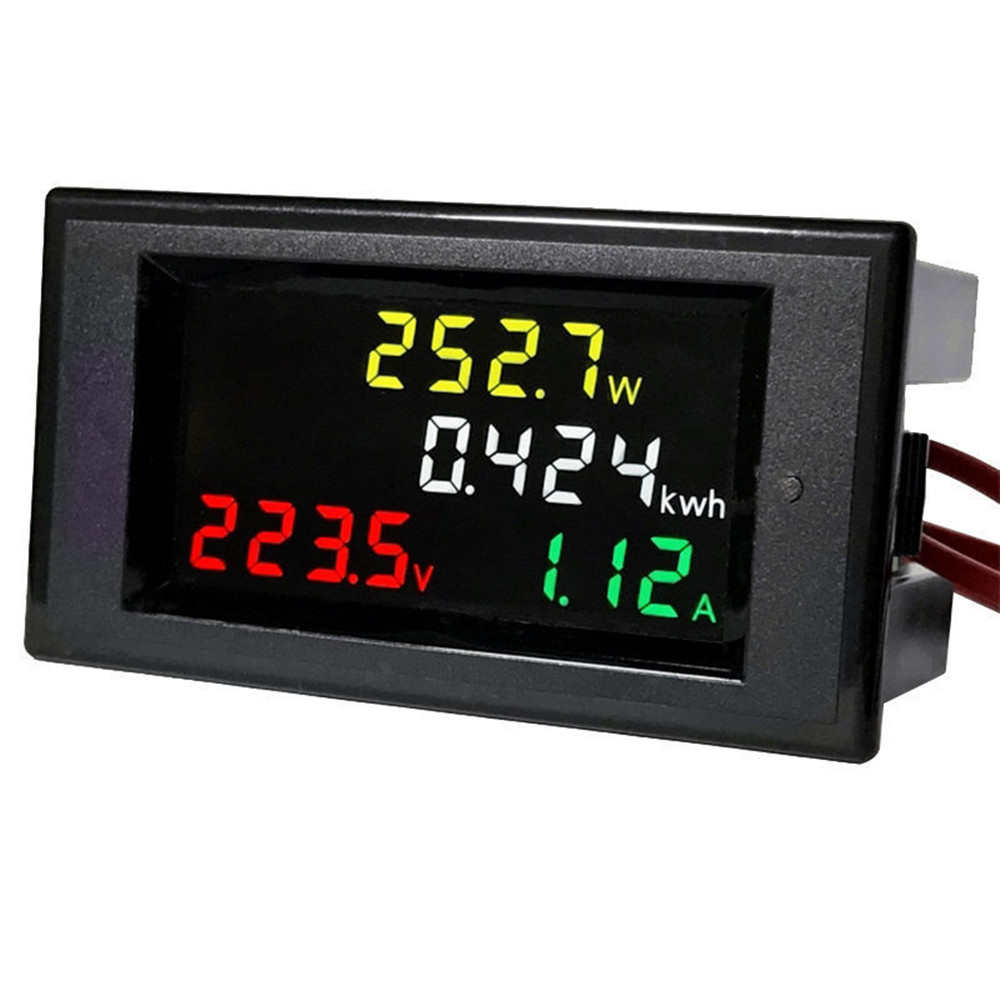 digital ac 80 300v lcd voltmeter ammeter volt amp power. Black Bedroom Furniture Sets. Home Design Ideas