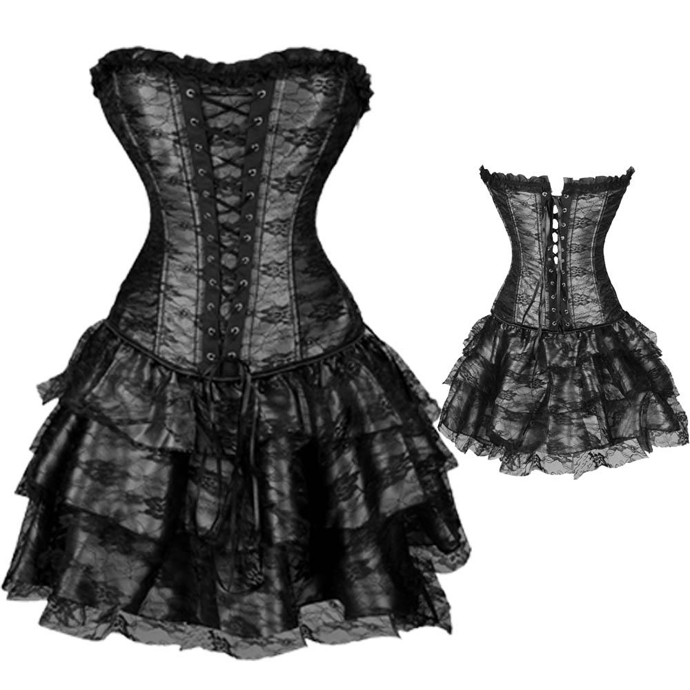Burlesque Basque lingerie Corset Dress Waist Training ...