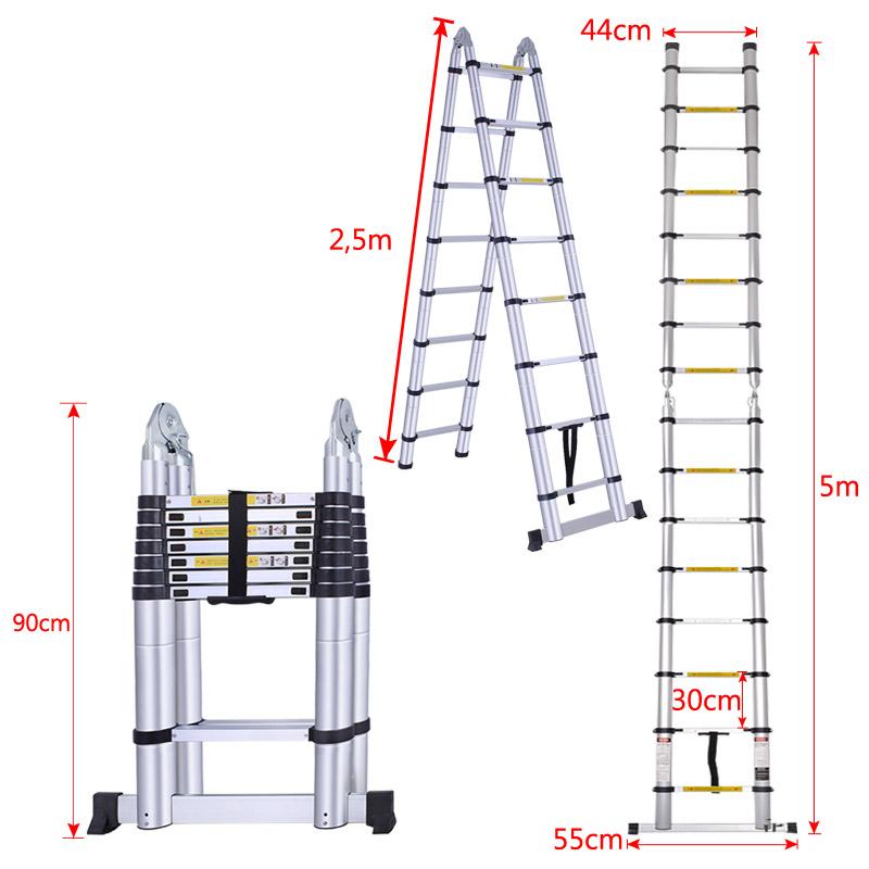 teleskopleiter 5m klappleiter stehleiter anlegeleiter. Black Bedroom Furniture Sets. Home Design Ideas