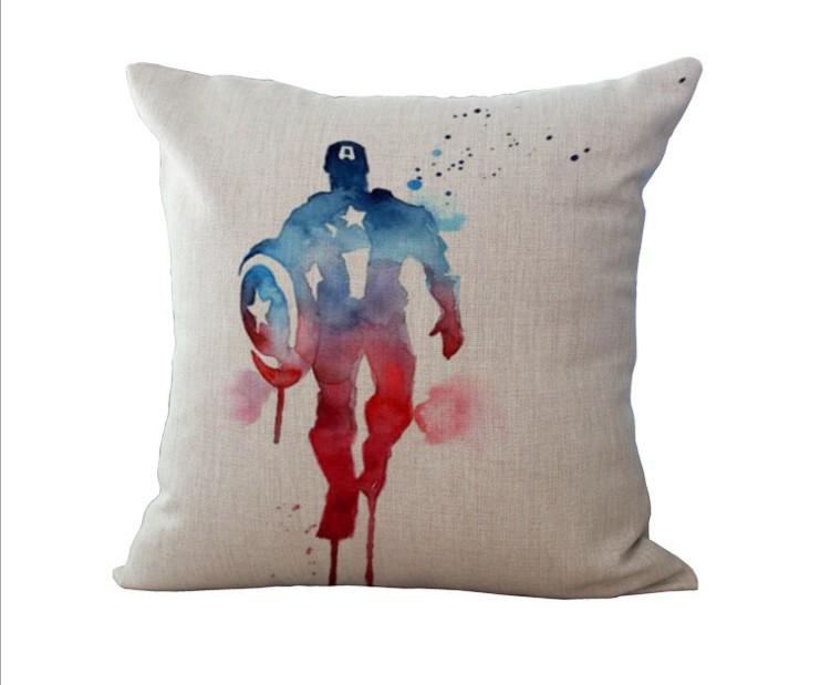Avengers Decorative Pillow : Avengers Hero Cotton Linen Pillow Case Sofa Bed Throw Cushion Cover Home Decor eBay