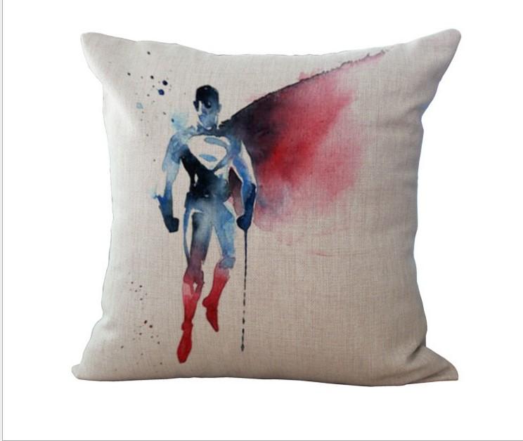 Avengers Hero Cotton Linen Pillow Case Sofa Bed Throw Cushion Cover Home Decor eBay