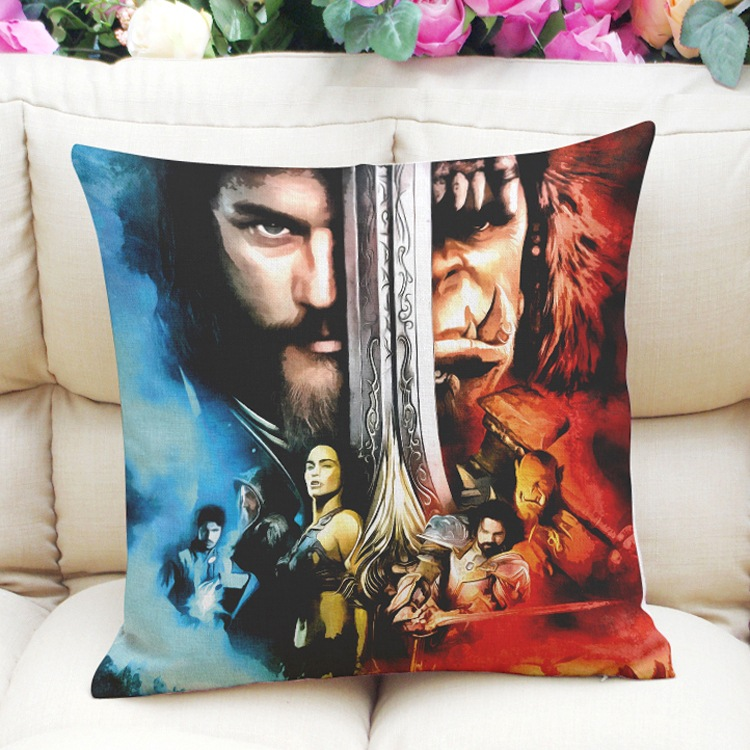 Throw Pillow Cover Pattern With Zipper : WORLD OF WARCRAFT Pattern home decor Throw Pillow Case Cushion Zippered Cover eBay
