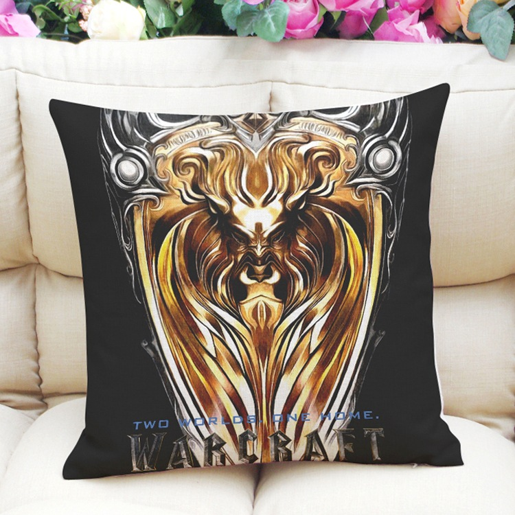 WORLD OF WARCRAFT Pattern home decor Throw Pillow Case Cushion Zippered Cover eBay