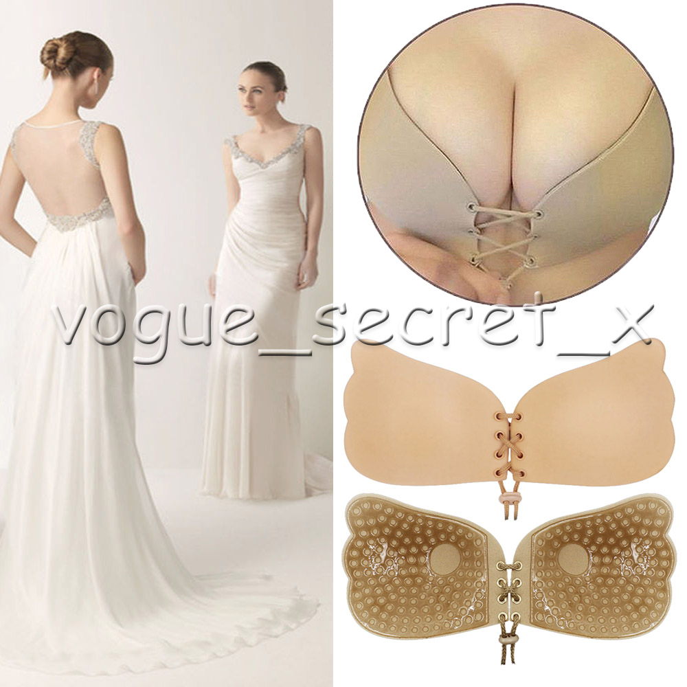 22a982e5e6 Women s Weeding Silicone Push Up Bra Self Adhesive Stick On Backless A B C  D Cup