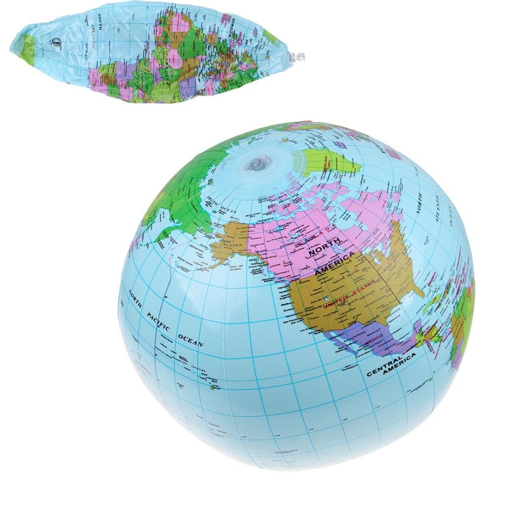 Cm Inflatable Earth World Globe Map Beach Ball Teacher Education - World globe map