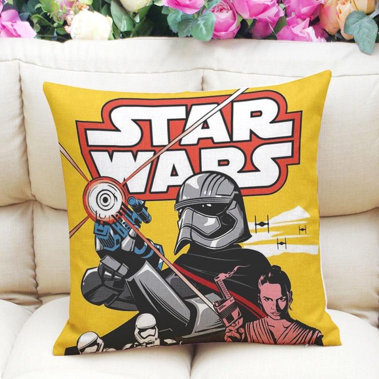 Flax Star wars Yoda Imperial Stormtrooper R2D2 throw pillow case cushion cover eBay