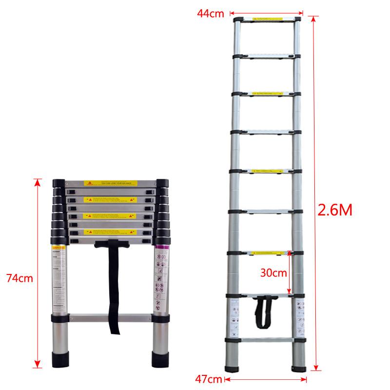 pliable chelle aluminium t lescopique pliante escabeau en. Black Bedroom Furniture Sets. Home Design Ideas
