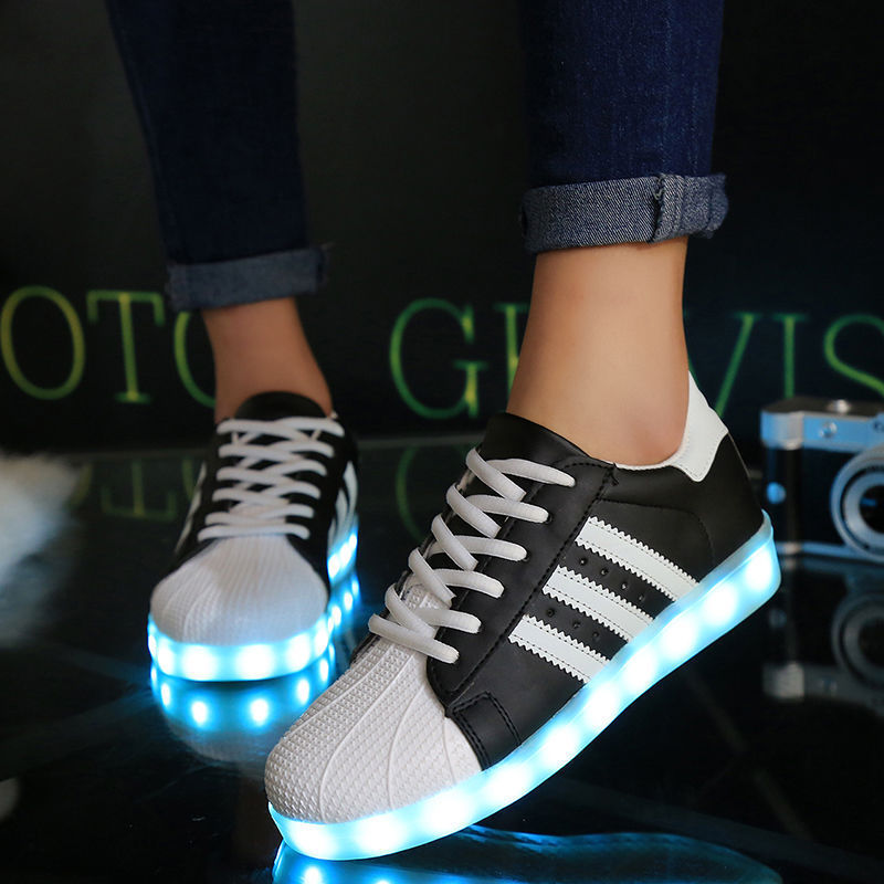 unisex led licht schuhe leuchtend blinkschuhe farbwechsel sneaker trainers uk ebay. Black Bedroom Furniture Sets. Home Design Ideas