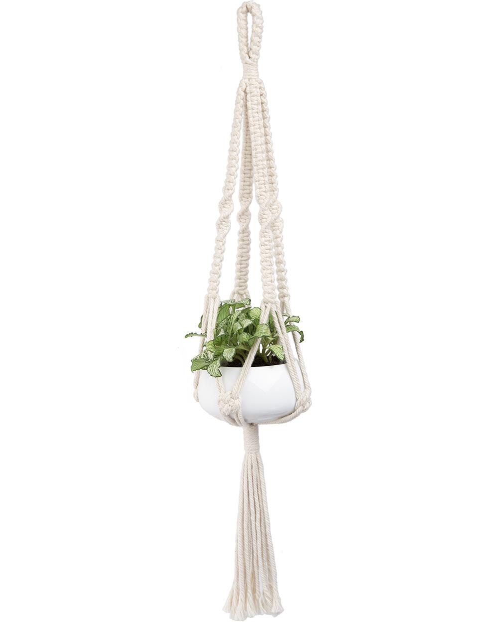 Mkono Mini Macrame Plant Hanger Hanging Planter Basket