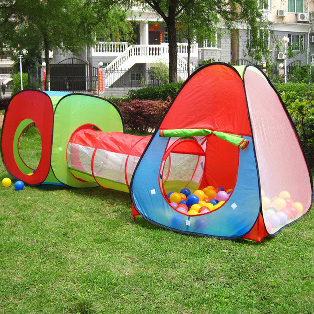 Item specifics & 3In1 kids Toddler Indoor Outdoor Play House Tent Crawl Tunnel Pit ...