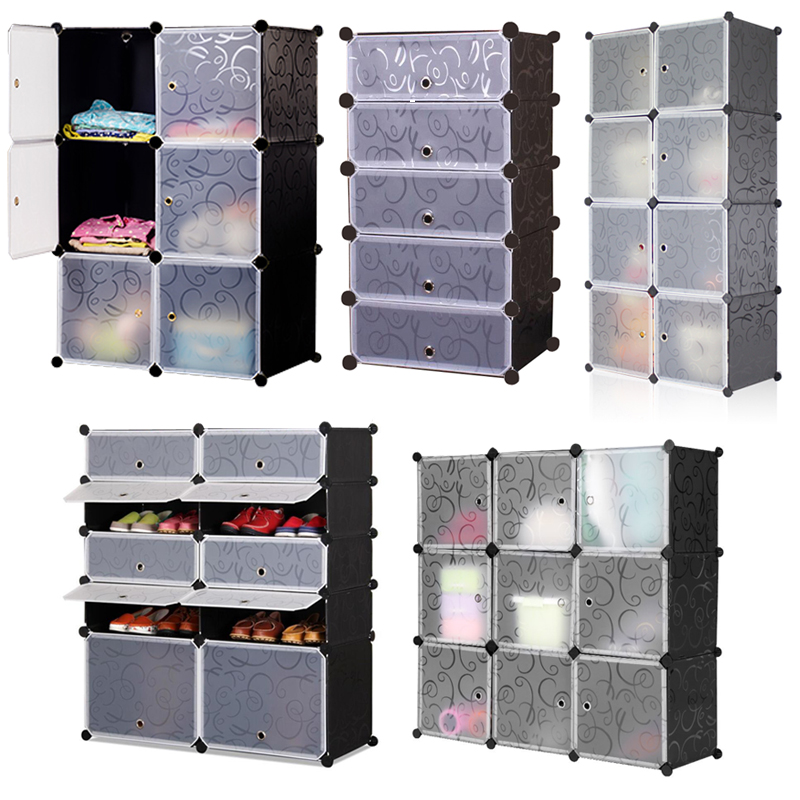 regal steckregal diy badregal regalsystem kleiderschrank schuhschrank mit t ren ebay. Black Bedroom Furniture Sets. Home Design Ideas