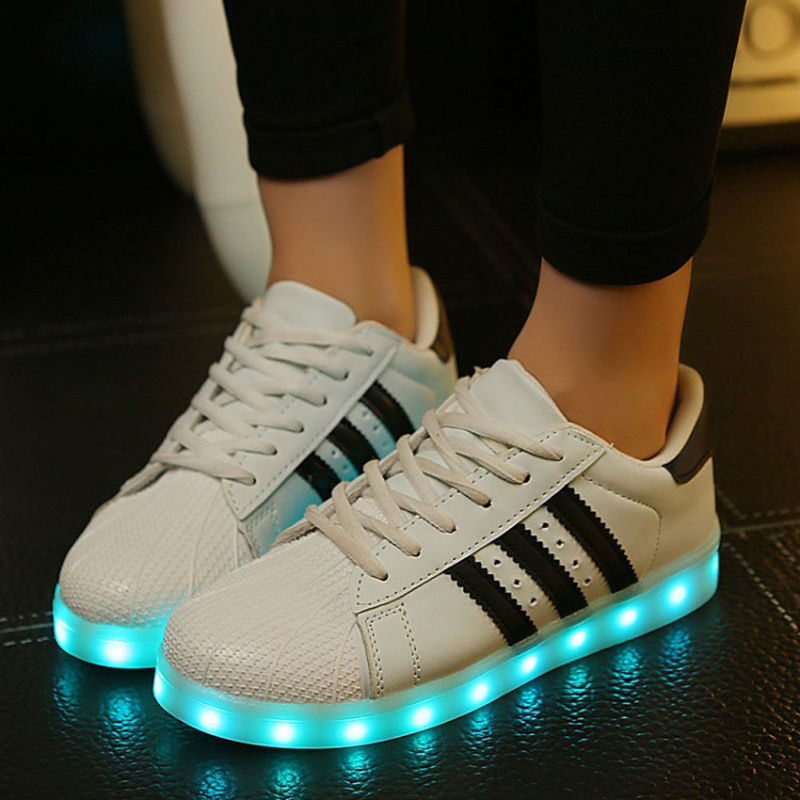 saguaro led schuhe licht leuchtend sneaker blinkschuhe unisex farbwechsel ebay. Black Bedroom Furniture Sets. Home Design Ideas