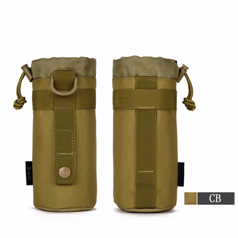 Outdoor Tactical Molle Water Bottle Bag Military Kettle