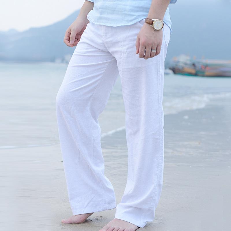 Attractive Casual Men Pants Beach Pants Slacks Trousers Sweatpants Cotton  HS84
