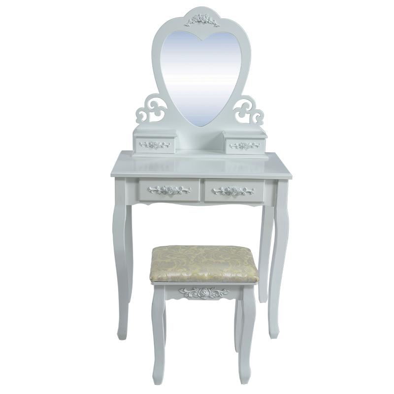 Beautiful bianco legno consolle con specchio toeletta for Amazon camere da letto complete