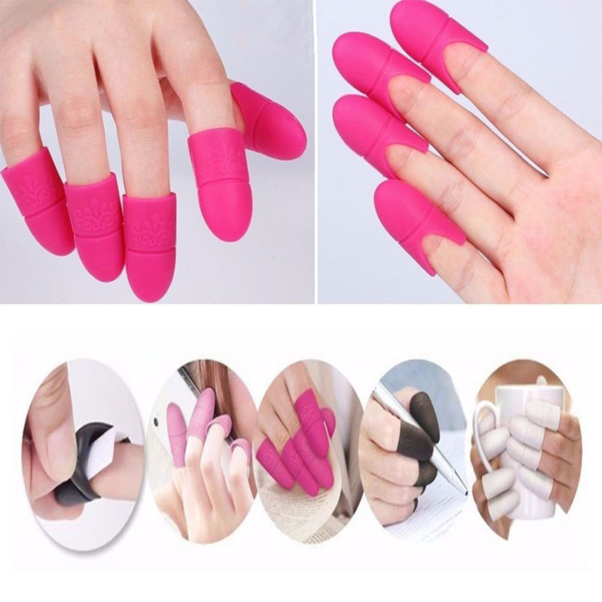 10 UV Gel Polish Remover Wraps Silicone Soak Off Cap Clip Manicure ...