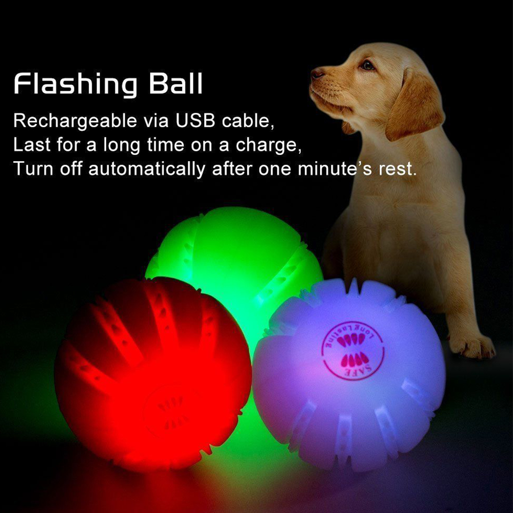 Indestructible Dog Ball 6 6 Cm Flashing Led Glow Light Up