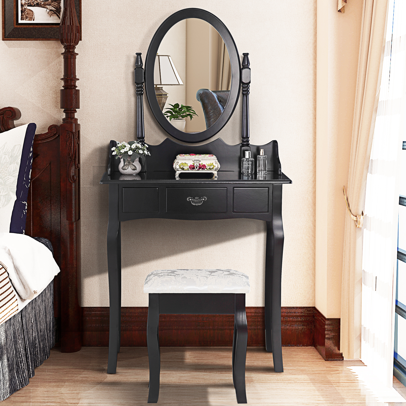 Oval bedroom furniture