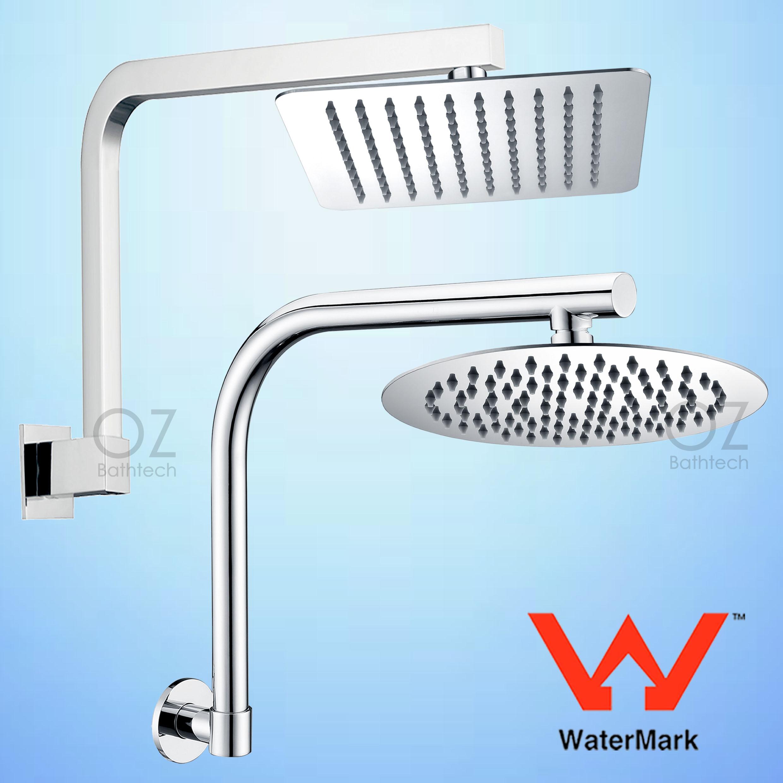 WELS 2IN1 Rain Shower Head + Handheld Gooseneck Wall Arm Diverter ...