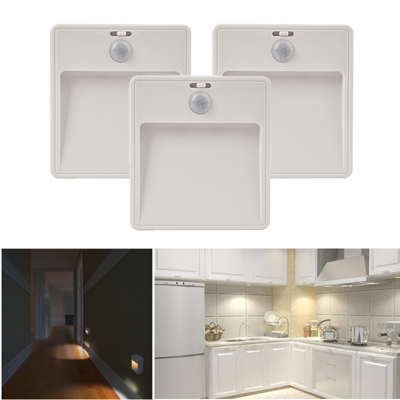 3er led sensor llicht unterbau aufbau leuchte schrank k che mit bewegungsmelder ebay. Black Bedroom Furniture Sets. Home Design Ideas