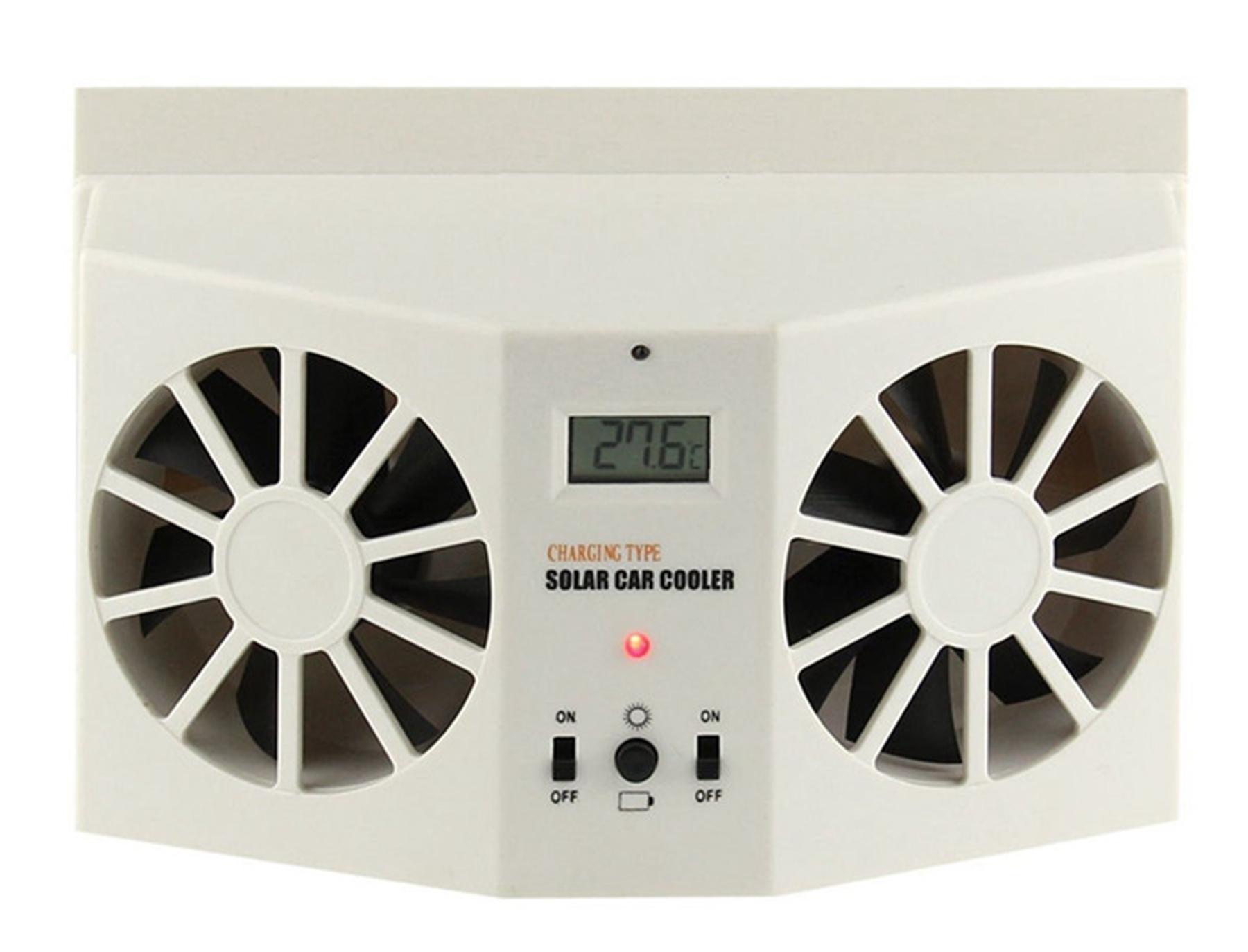 solar powered auto car window air vent ventilator mini air. Black Bedroom Furniture Sets. Home Design Ideas