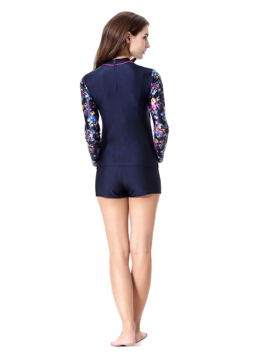 2Pcs Women Swimsuit Beachwear Muslim Swim Swimwear Long ...