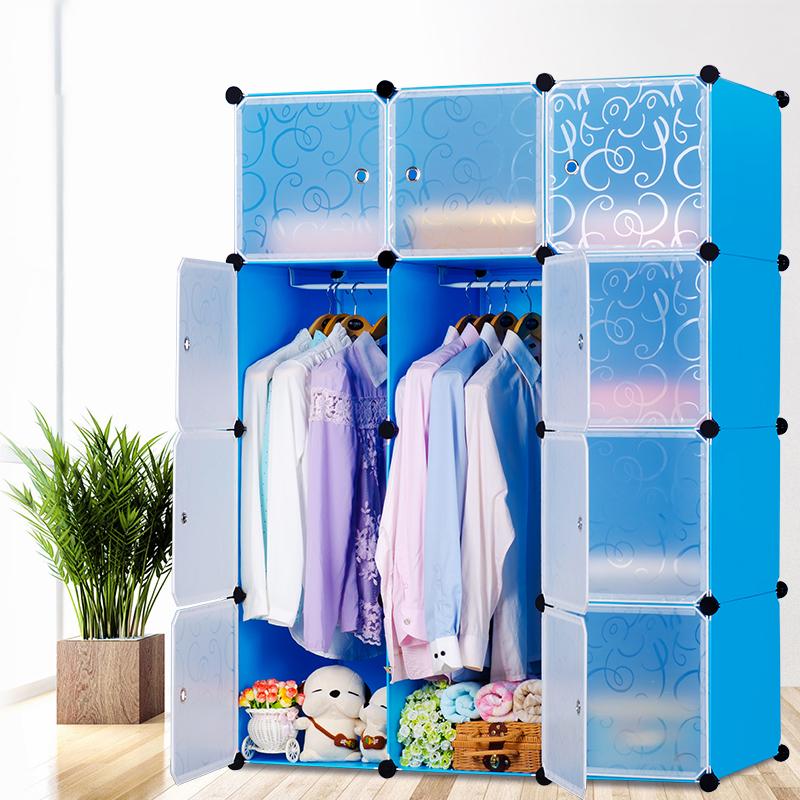 diy kleiderschrank regalsystem garderobe steckregal standregal kunststoff blau ebay. Black Bedroom Furniture Sets. Home Design Ideas