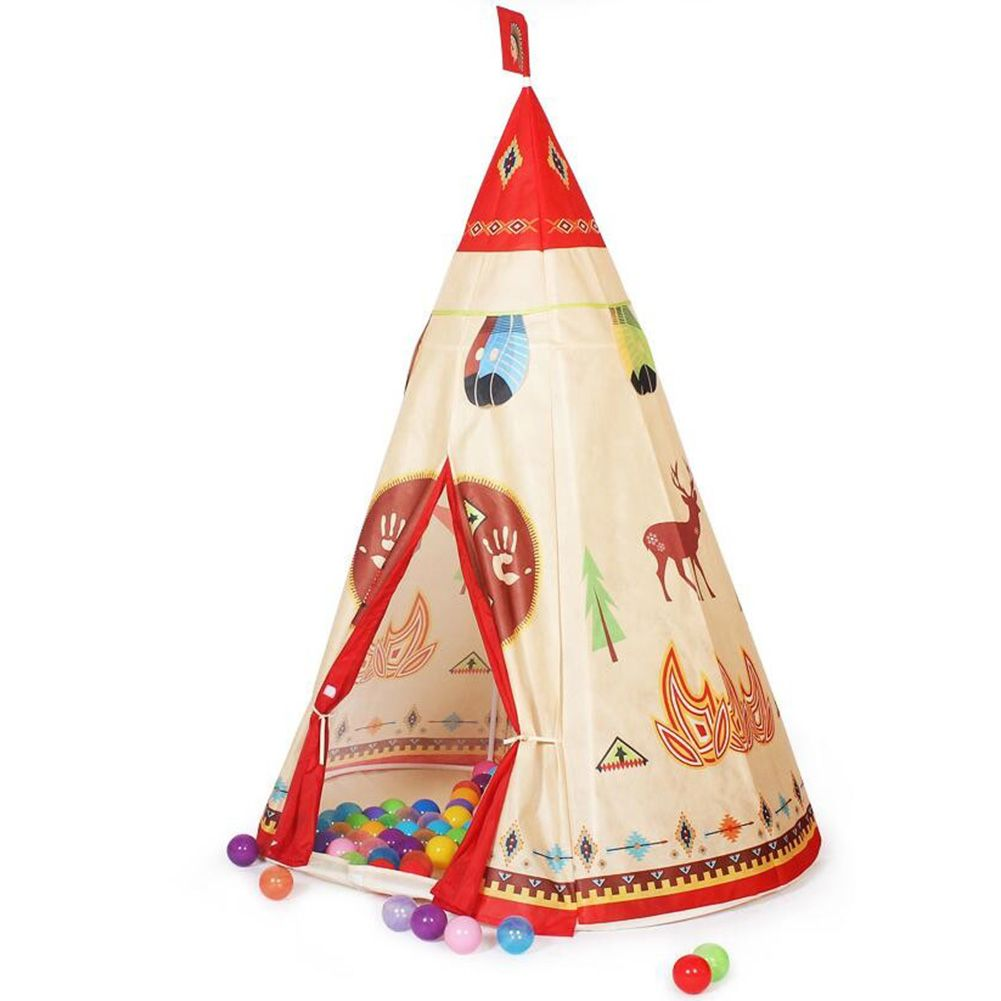 Popular Kids Game Teepee Native Indian Style Indoor Outdoor Play Conical Tent  sc 1 st  eBay & Pop Kids Game Teepee Native Indian Style Indoor Outdoor Play ...