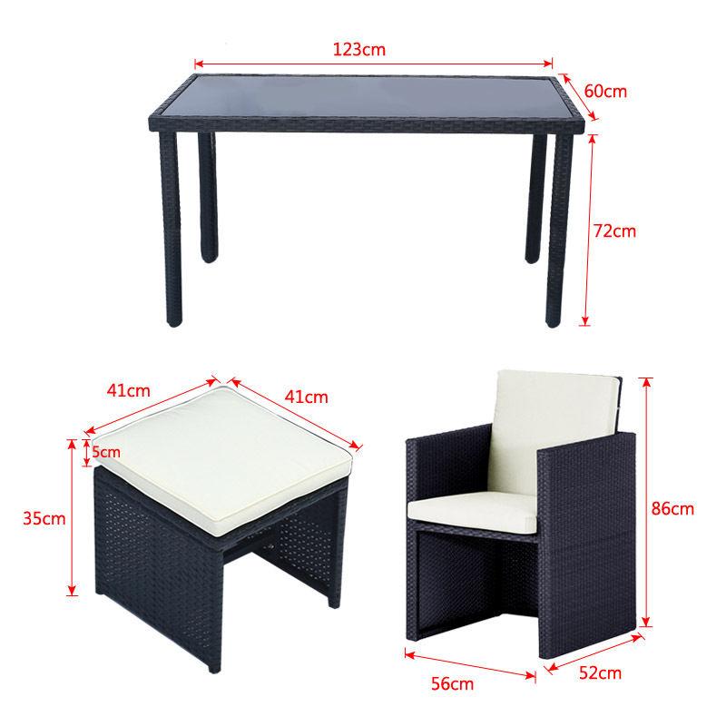 rattan barset mit 4 st hlen gartenm bel sitzgruppe gartenbar sitzgarnitur tisch ebay. Black Bedroom Furniture Sets. Home Design Ideas