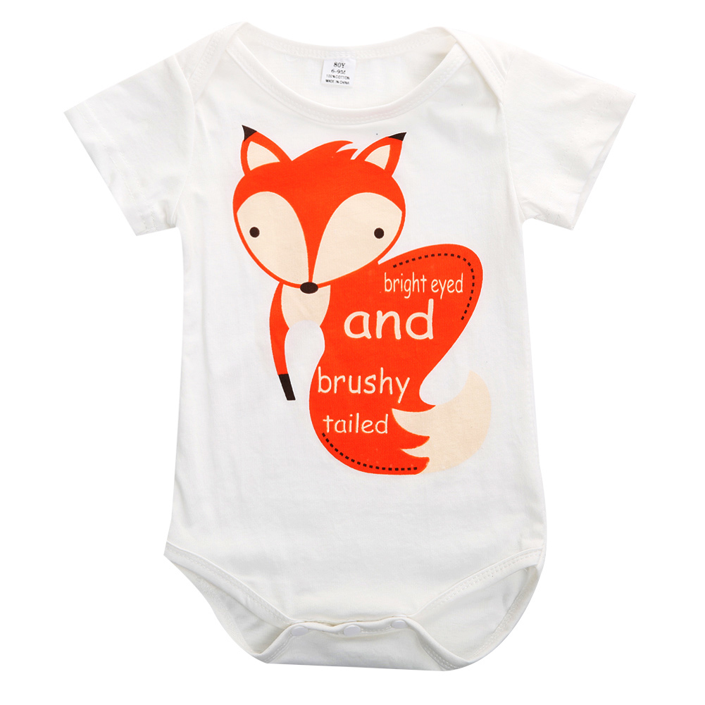 Cute Fox Toddler Baby Girls Boys Jumpers Rompers Playsuit