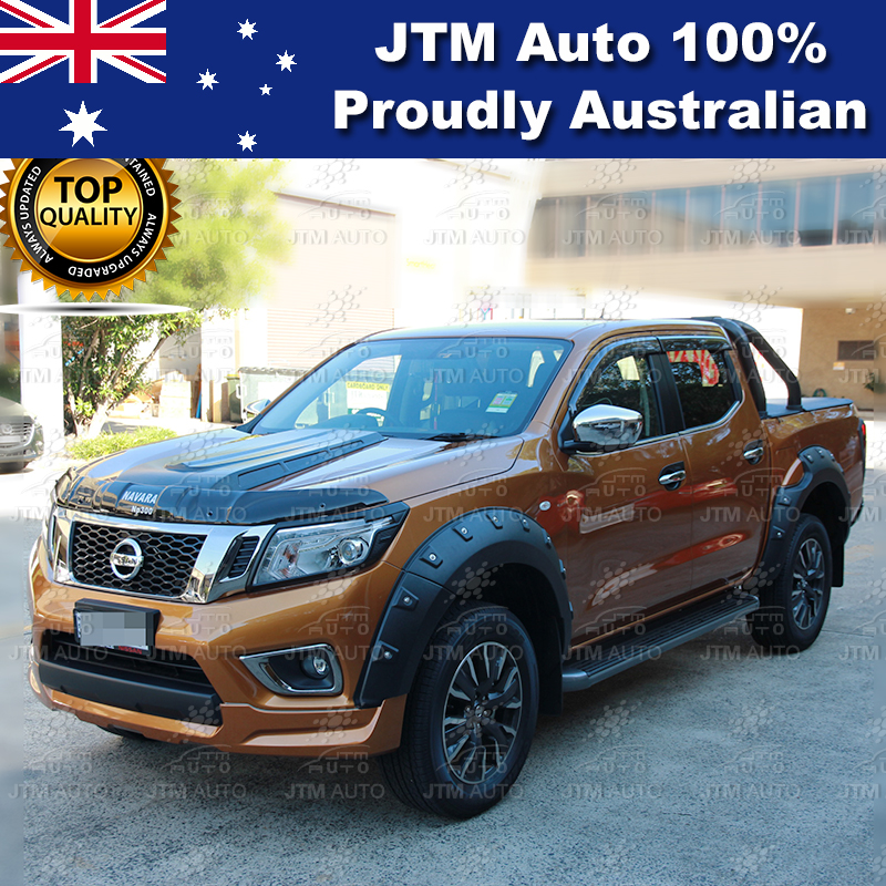 MATT Black Head Light Cover Protector to suit Nissan Navara NP300 D23 2014-2018