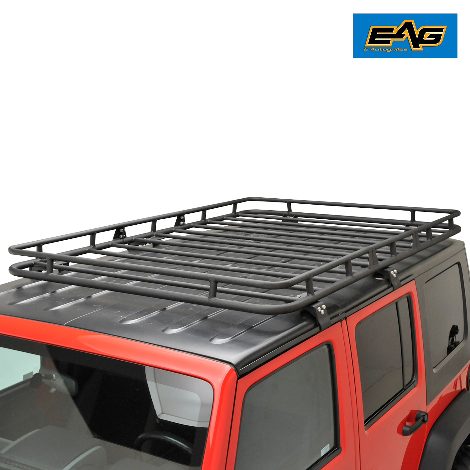 Eag Black Steel Roof Rack Cargo Basket For 07 17 Jeep