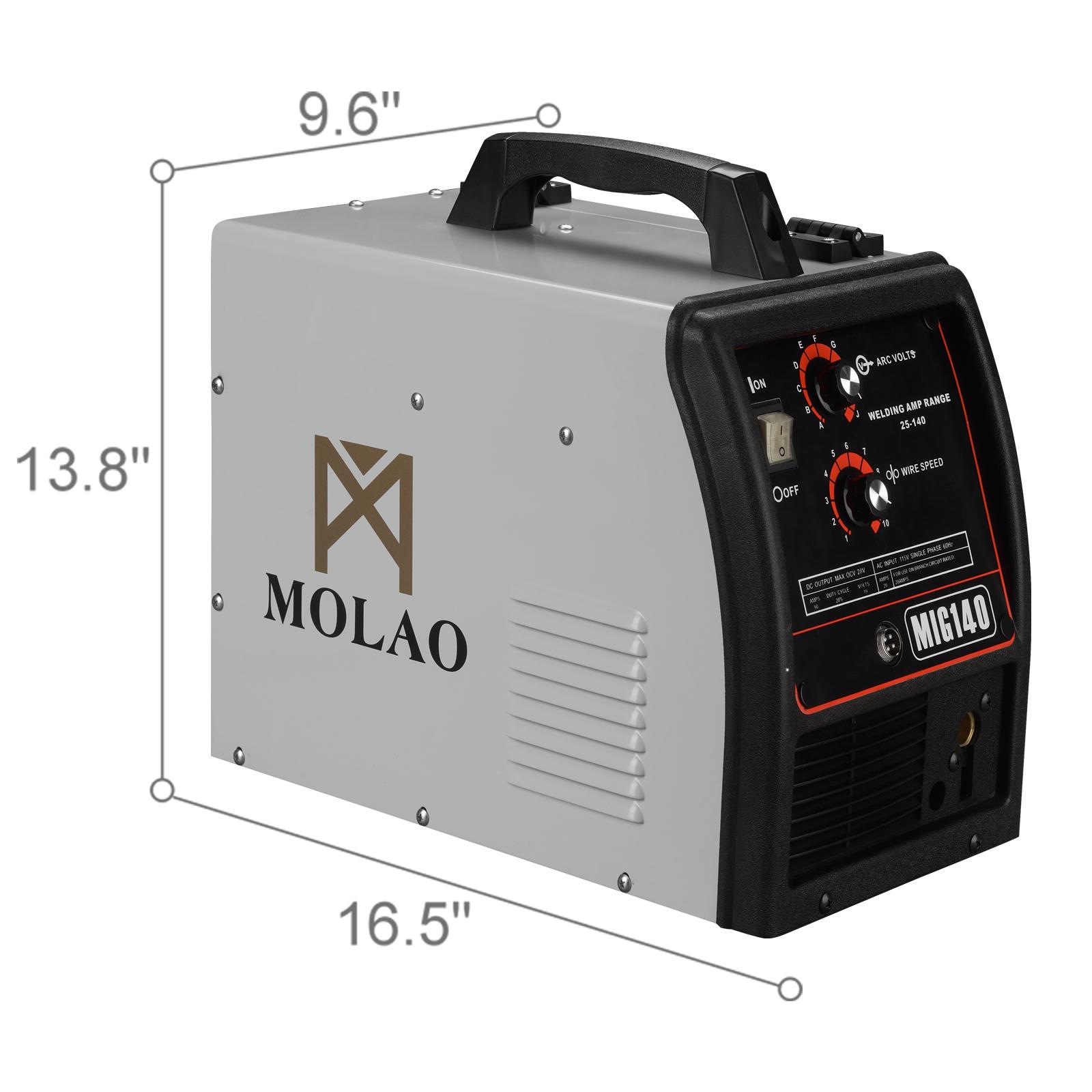 Wire-Feed MIG Welder-115V Welding Machine W/Free Gloves 140 MIG ...