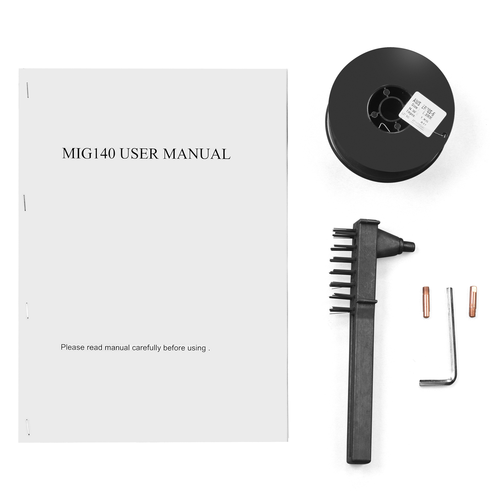 MIG 140 Wire-Feed MIG Welder-115V Welding Machine with Free Gloves ...